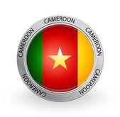 Odznaka - flaga kamerunu — Wektor stockowy
