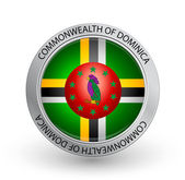 Badge - Flag of Commonwealth of Dominica — Stock Vector