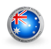 Badge - Flag of Commonwealth of Australia — Stock Vector
