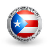 Badge - Flag of Commonwealth of Puerto Rico — Stock Vector