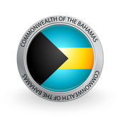Badge - Flag of Commonwealth of the Bahamas — Stock Vector