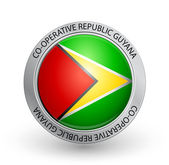 Badge - Flag of Co-operative Republic Guyana — Stock Vector