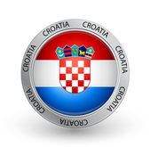 Badge - Croatia flag — Stock Vector