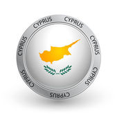 Badge - Cyprus flag — Stock Vector