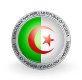Badge - Flag of Democratic and Popular Republic of Algeria — Stock Vector