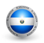Badge - El Salvador flag — Stock Vector