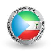 Distintivo - bandiera della guinea equatoriale — Vettoriale Stock