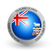 Badge - Falkland Islands flag — Stock Vector