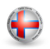 Badge - Faroe Islands flag — Stock Vector