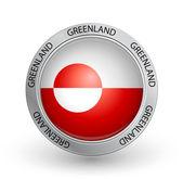 Badge - Greenland flag — Stock Vector