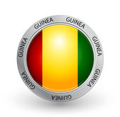 Badge - Guinea flag — Stock Vector