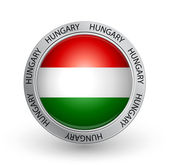 Badge - Hungary flag — Stock Vector