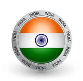 Badge - India flag — Stock Vector