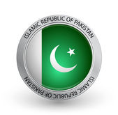Badge - Pakistan flag — Stock Vector