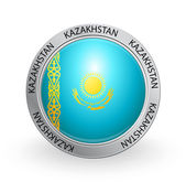 Badge - Flag of Kazakhstan — Stock Vector