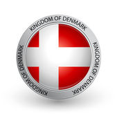 Badge - Flag of Kingdom of Denmark — Stock Vector