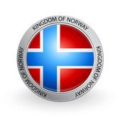 Badge - Flag of Kingdom of Norway — Stock Vector