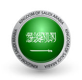 Badge - Flag of Kingdom of Saudi Arabia — Stock Vector