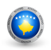 Badge - Kosovo flag — Stock Vector