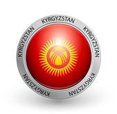 Badge - Kyrgyzstan flag — Stock Vector