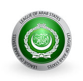Badge - Flag of League of Arab States — Stock Vector
