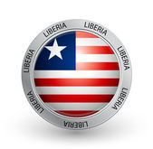 Badge - Liberia flag — Stock Vector