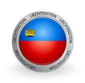 Badge - Liechtenstein flag — Stock Vector