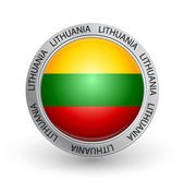 Badge - Lithuania flag — Stock Vector