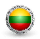 Badge - Lithuania flag — Stock Vector