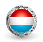 Badge - Luxembourg Flag — Stock Vector