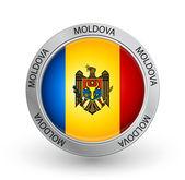 Badge - Moldova flag — Stock Vector