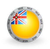 Badge - Niue flag — Stock Vector