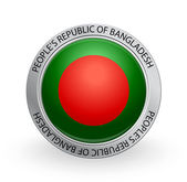 Badge - Flag of 's Republic of Bangladesh — Stock Vector