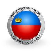 Badge - Flag of Principality of Liechtenstein — Stock Vector
