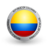 Badge - Flag of Republic of Colombia — Stock Vector