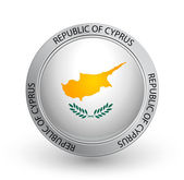Badge - Flag of Republic of Cyprus — Stock Vector