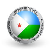 Badge - Flag of Republic of Djibouti — Stock Vector