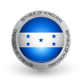 Badge - Flag of Republic of Honduras — Stock Vector