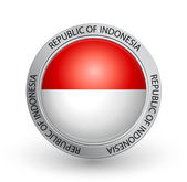 Badge - Flag of Republic of Indonesia — Stock Vector