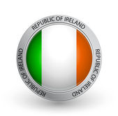 Badge - Flag of Republic of Ireland — Stock Vector