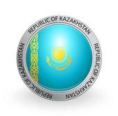 Badge - Flag of Republic of Kazakhstan — Stock Vector