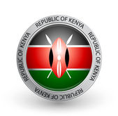 Badge - Flag of Republic of Kenya — Stock Vector