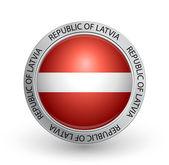 Badge - Flag of Republic of Latvia — Stock Vector