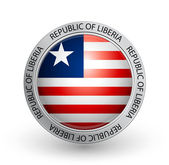 Badge - Flag of Republic of Liberia — Stock Vector