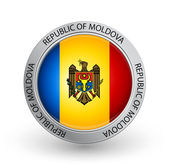 Badge - Flag of Republic of Moldova — Stock Vector