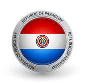 Badge - Flag of Republic of Paraguay — Stock Vector