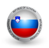 Badge - Flag of Republic of Slovenia — Stock Vector