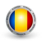 Badge - Romania flag — Stock Vector