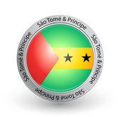 Badge - Flag of Sao Tome & Principe — Stock Vector