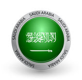 Badge - Saudi Arabia flag — Stock Vector